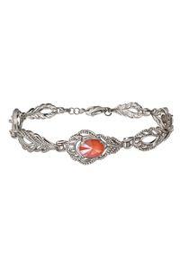 Polcarat Design - Srebrna rodowana bransoletka z kryształami Swarovski L 2086. Materiał: srebrne. Kolor: srebrny. Wzór: aplikacja. Kamień szlachetny: kryształ