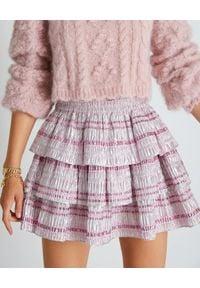 LOVE SHACK FANCY - Krótka spódnica Brynlee. Kolor: wielokolorowy, różowy, fioletowy. Materiał: materiał. Długość: krótkie. Styl: klasyczny