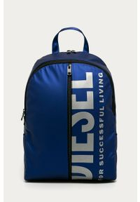 Niebieski plecak Diesel z nadrukiem