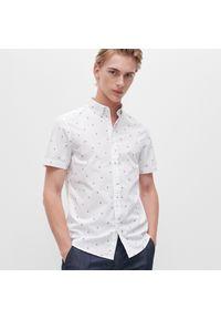 Biała koszula Reserved z nadrukiem