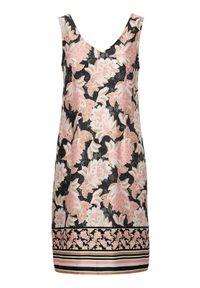 Sukienka mini Cream z dekoltem w serek, elegancka