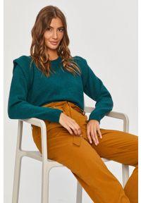 Zielony sweter Answear Lab długi, z długim rękawem