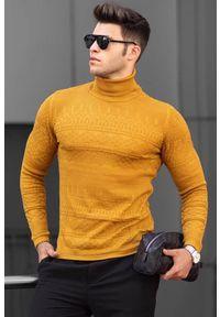 Żółta koszula IVET długa, w jednolite wzory