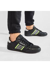 Adidas - Buty adidas - Continental 80 FX5108 Cblack/Tmsogr/Ftwwht. Zapięcie: sznurówki. Kolor: czarny. Materiał: skóra. Szerokość cholewki: normalna. Sezon: lato
