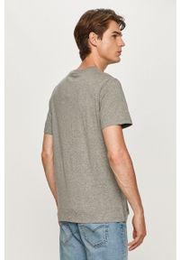 Szary t-shirt Levi's® z okrągłym kołnierzem, z nadrukiem