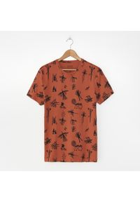 Pomarańczowy t-shirt House z nadrukiem