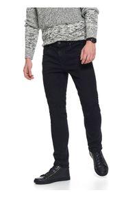 Czarne spodnie TOP SECRET w kolorowe wzory, casualowe, na wiosnę, na co dzień