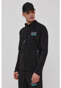 EA7 Emporio Armani - Bluza. Okazja: na co dzień. Kolor: czarny. Materiał: materiał. Wzór: nadruk. Styl: casual