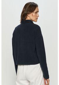 Niebieska bluza Noisy may casualowa, krótka, na co dzień, bez kaptura