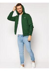 Lacoste Bluza SH1551 Zielony Regular Fit. Kolor: zielony