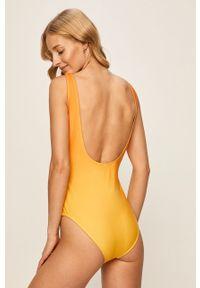 Żółty strój kąpielowy ANSWEAR z odpinanymi ramiączkami, z nadrukiem