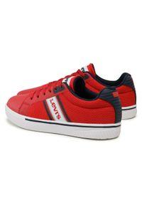 Levi's® - Sneakersy LEVI'S® - VFUT0061T Red Navy 0896. Kolor: czerwony. Materiał: materiał