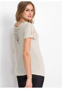 Szara bluzka bonprix w koronkowe wzory