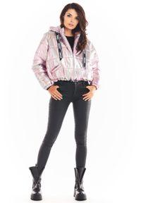 Różowa kurtka Awama krótka