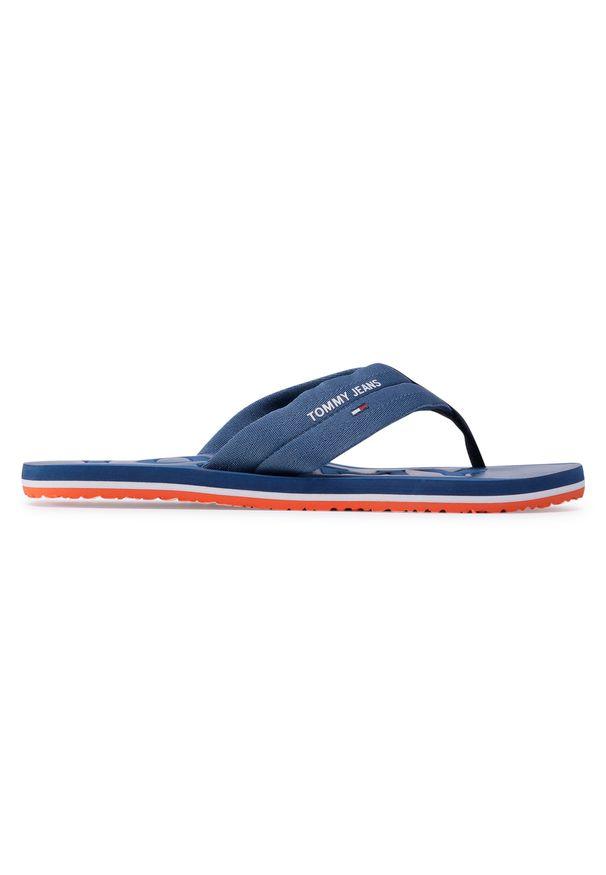 Niebieskie japonki Tommy Jeans na lato