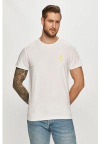 Biały t-shirt Fat Moose na co dzień, casualowy