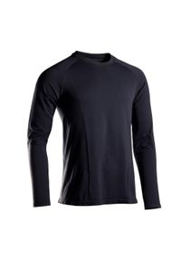 KIMJALY - Koszulka do jogi długi rękaw. Kolor: czarny. Materiał: poliamid, bawełna, materiał. Długość rękawa: długi rękaw. Długość: długie. Sport: joga i pilates