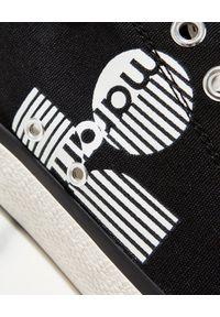 ISABEL MARANT - Bawełniane trampki Binkoo. Kolor: czarny. Materiał: bawełna. Wzór: aplikacja