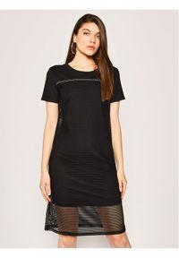 Czarna sukienka Liu Jo na co dzień, casualowa, prosta