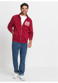 Czerwona bluza bonprix z nadrukiem