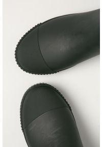 Czarne kalosze GANT z okrągłym noskiem, z cholewką