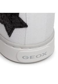 Białe kozaki Geox młodzieżowe, z aplikacjami