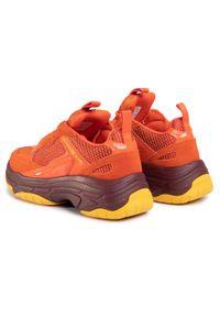 Pomarańczowe sneakersy Calvin Klein Jeans z cholewką, na co dzień