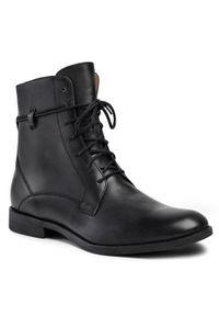 Czarne buty zimowe Gino Rossi na co dzień, z cholewką