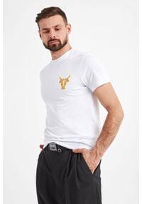 Versace Jeans Couture - PASEK VERSACE JEANS COUTURE. Materiał: tkanina, skóra. Wzór: paski