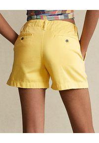 Ralph Lauren - RALPH LAUREN - Żółte bawełnianie spodenki. Kolor: żółty. Materiał: bawełna. Styl: klasyczny