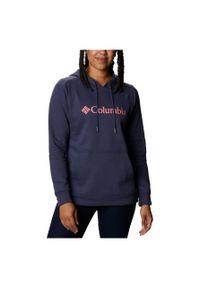 columbia - Bluza damska Columbia Logo Hoodie 1895751. Typ kołnierza: kaptur. Materiał: bawełna, materiał, poliester