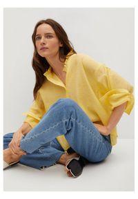 mango - Mango Koszula Lixy 87025663 Żółty Relaxed Fit. Kolor: żółty