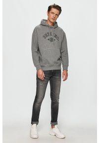 Pepe Jeans - Bluza Lionel. Kolor: szary. Materiał: dzianina. Wzór: nadruk