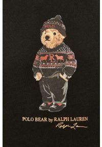Czarna bluza nierozpinana Polo Ralph Lauren polo, z nadrukiem, casualowa