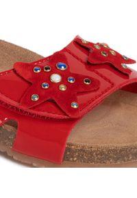 Czerwone sandały Sergio Bardi Young z aplikacjami, na lato, casualowe, na co dzień