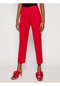 Czerwone spodnie materiałowe Michael Kors