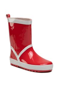 Czerwone kalosze Playshoes z cholewką, z aplikacjami