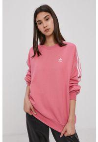 adidas Originals - Bluza bawełniana. Kolor: różowy. Materiał: bawełna