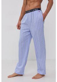 Polo Ralph Lauren - Spodnie piżamowe. Kolor: niebieski. Materiał: tkanina