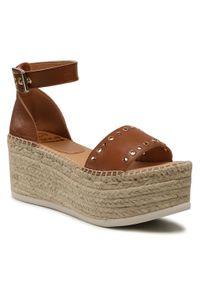 Brązowe sandały Kanna