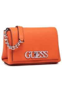 Guess - Torebka GUESS - Uptown Chic (VG) Mini HWVY73 01780 ORA. Kolor: pomarańczowy. Materiał: skórzane