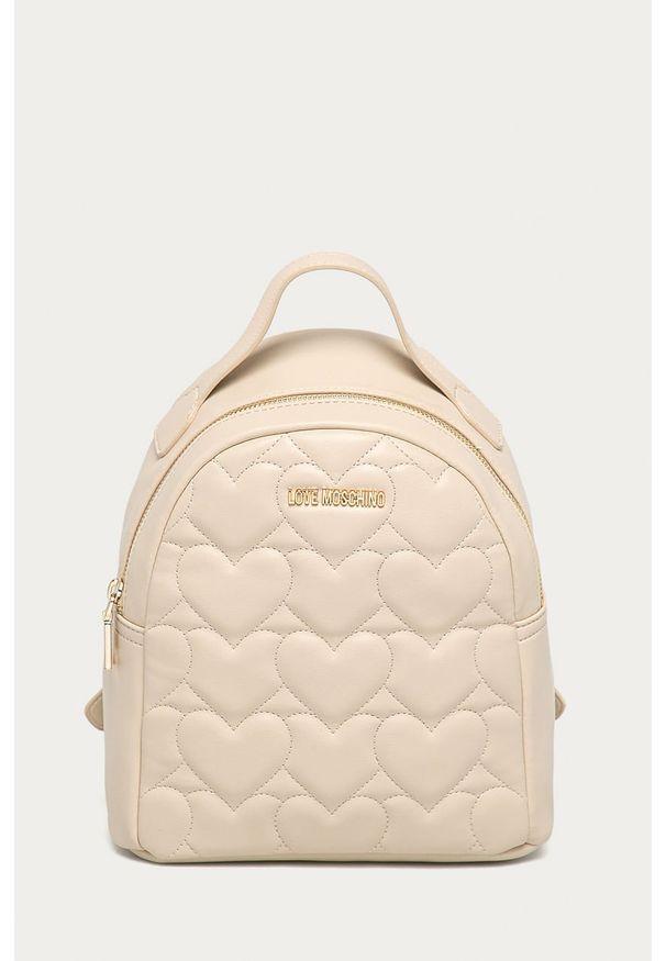 Beżowy plecak Love Moschino gładki