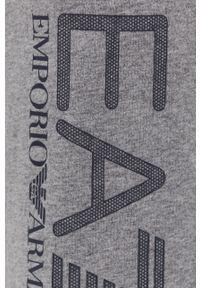 EA7 Emporio Armani - Szorty. Okazja: na co dzień. Kolor: szary. Wzór: nadruk. Styl: casual