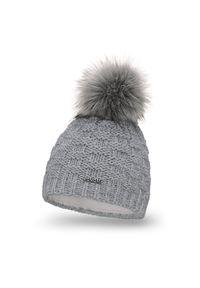 Szara czapka zimowa PaMaMi klasyczna