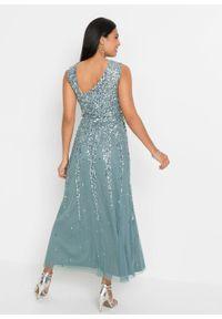 Szara sukienka bonprix maxi, asymetryczna