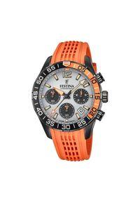 Pomarańczowy zegarek Festina sportowy
