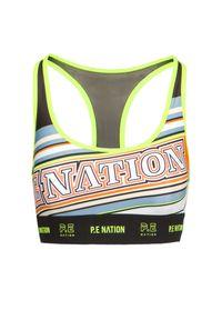 PE Nation - Stanik sportowy P.E NATION LINE POINT SPORTS. Materiał: elastan, materiał. Wzór: nadruk. Styl: sportowy