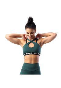 FJ! - Stanik SEXY - Emerald. Materiał: poliester, dzianina, guma, elastan. Sport: fitness, bieganie