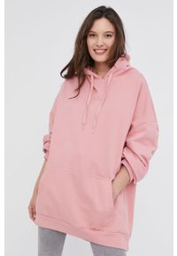 Bluza Answear Lab z długim rękawem, gładkie, długa, z kapturem