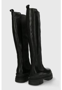 MEXX - Mexx - Sztyblety skórzane Hallelujah. Nosek buta: okrągły. Kolor: czarny. Materiał: skóra
